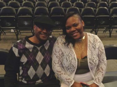 Telina Fleming of Fridley and Eric Bronson prior to the show