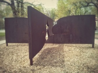 Freedom Form II, a sculpture donated by New York artist Daniel LaRue Johnson.