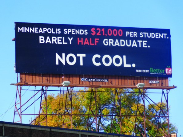 Better Ed billboard