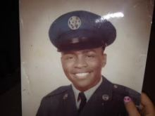 Makolle Williams in the U.S. Air Force, age 19