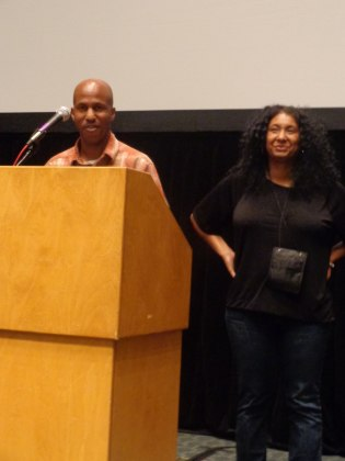 Arthur Muhammad and Kelly Gray at the NABJ screening of Carter High in Minneapolis.