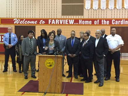 Mayor Hodges, Rep. Keith Ellison and other community leaders are calling for the end of Fourth Precinct occupation