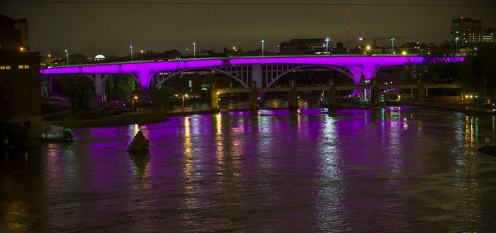 Minneapolis was bathed in purple in honor of Prince's passing.