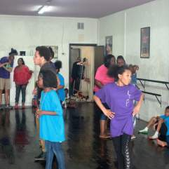 Young dancers at the 11th Annual FLOW Northside Arts Crawl, Thursday July 30.