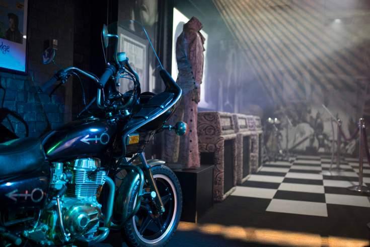 The Purple Rain Exhibit includes memorabilia from wardrobe and the motorcycle seen in the movie Purple Rain