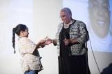 Tracey Williams-Dillard being presented her award