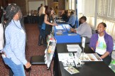 At the career and resource expo prior to the Graduation Celebration ceremony