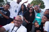 King Demetrius Pendleton takes a selfie with the Castile family and friends.