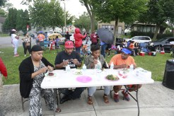 The judges of the rib cook-off