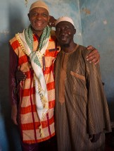 Assane Bah, Chief of Fulani tribe (left) with Steve Floyd