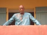 Steve Floyd on the balcony of the slave house on GoréeIsland