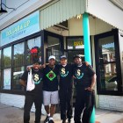 The owners of Dollar & Up (l-r) DeParis Frazier, Adonis Frazier, Nathaniel Haile, and  Harrison Hollivay