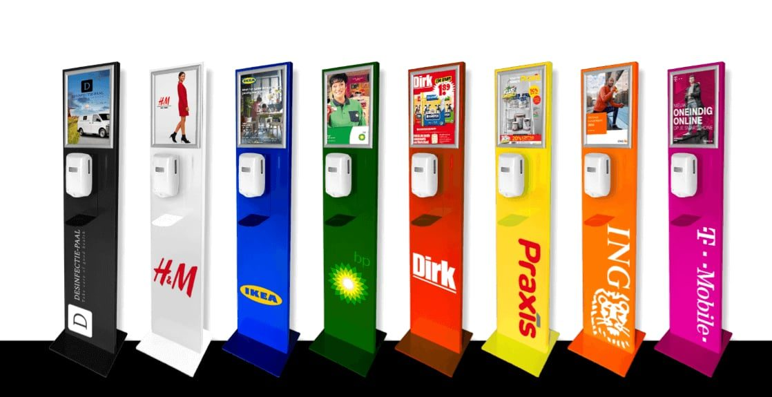 Desinfectie palen verschillende brands