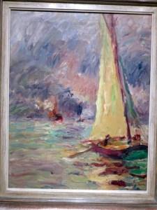 Hamburg Kunsthalle Emil Nolde Segelboot 1910