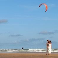 Spontane Fotografie kite surfer