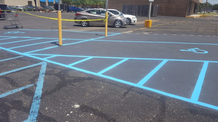 Handicapped Re-Striping After