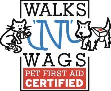 Walks N Wags Pet First Aid Logo