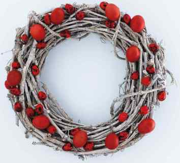 red egg wreath