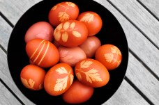 red leaf eggs