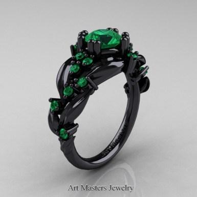 black gold emerald