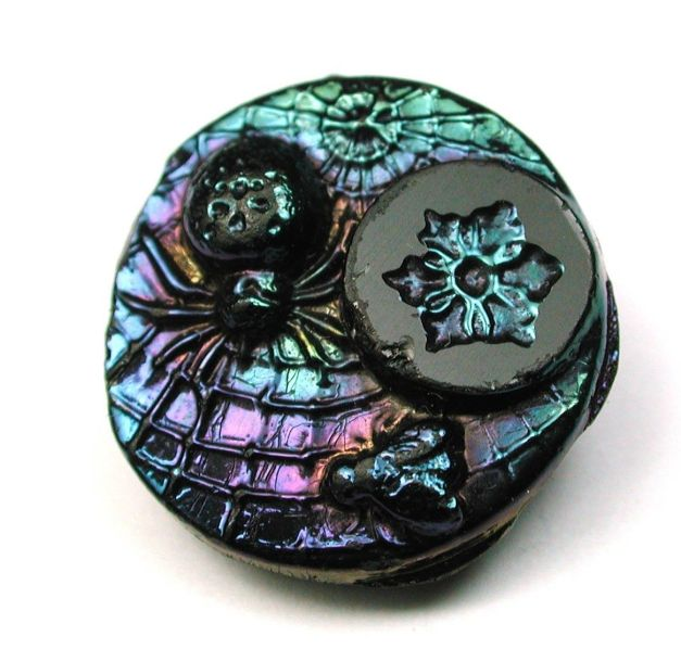 Black Glass with Carnival Luster