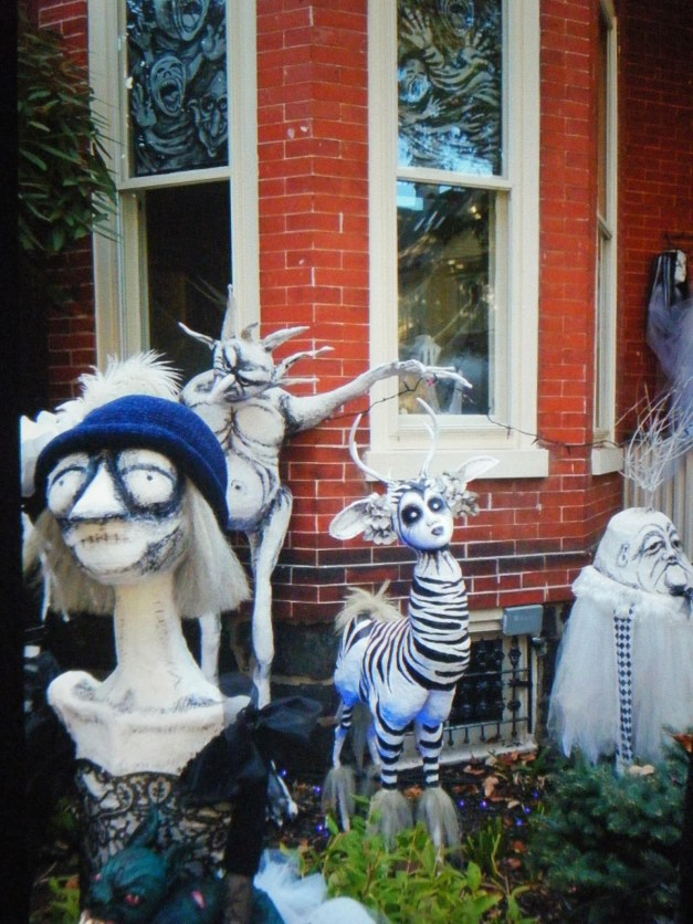 Mistress Borghese visits Halloween House