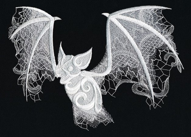 Ghost Baroque design set by Urban Threads. Suddenly, I want a sewing machine that does embroidery.