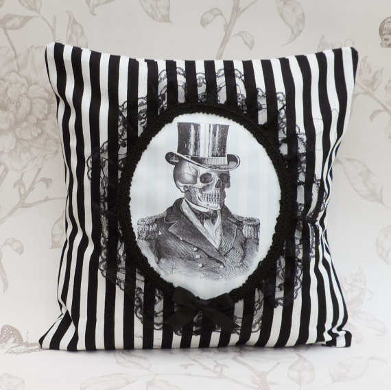 Mr. Skull Pillow by The Bat in The hat