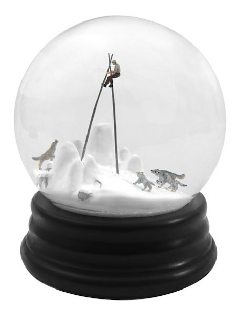 Snow Globes with People in Peril. Thanks, Skot!