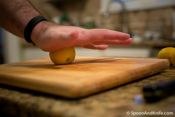 Smashing the lemons helps get the juice flowing