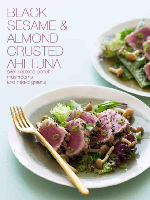 A Recipe For Black Sesame And Almond Crusted Ahi Tuna