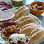 Bacon Cheese Sliders with Caramelize Pineapple Onions   SpoonfulOfButter.com