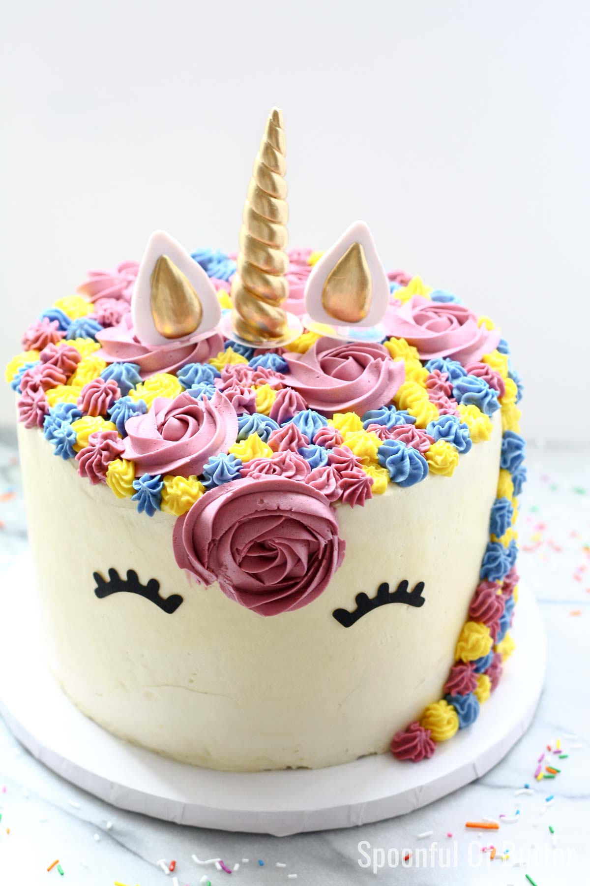 Swell A Unicorn Birthday Cake Spoonful Of Butter Personalised Birthday Cards Paralily Jamesorg