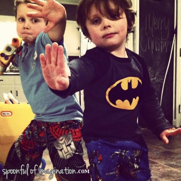 I sewed the boys Transformer pajama pants!