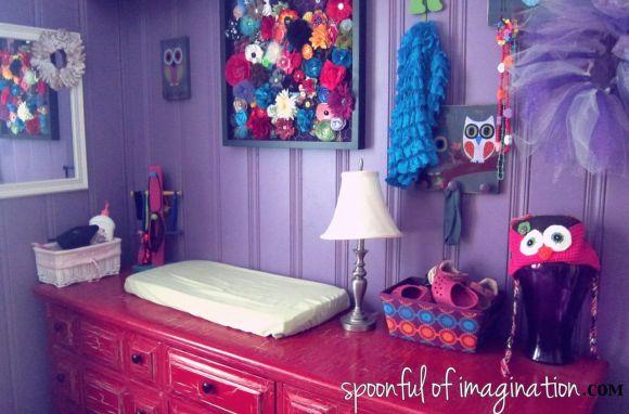 girls painted dresser