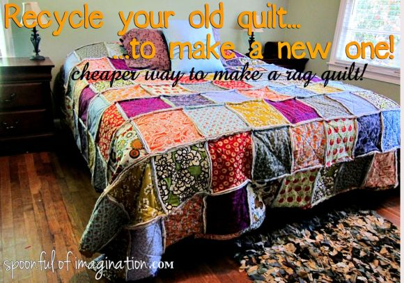 recycle old quilt to sew new one