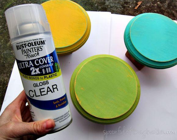 rustoleum gloss clear spray
