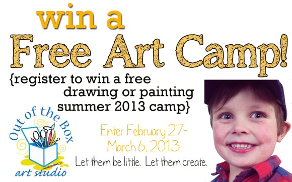 win a free art camp