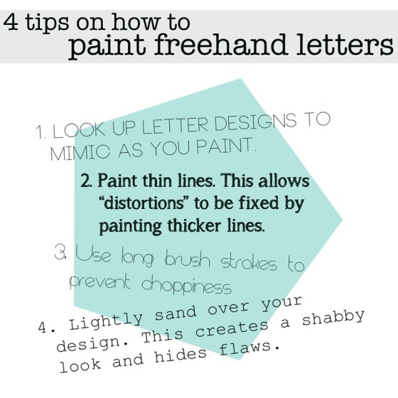 4 tips on how to paint freehand letters