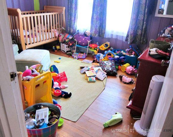 messy girls room
