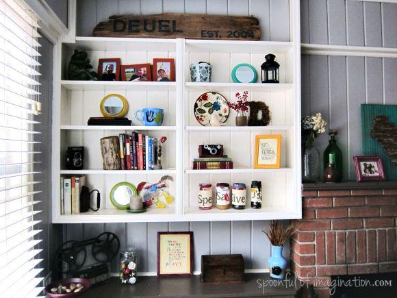 staging book shelves