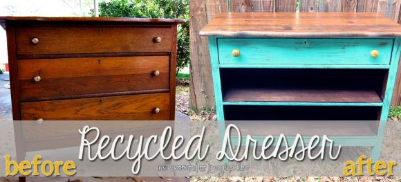 before and after of old dresser