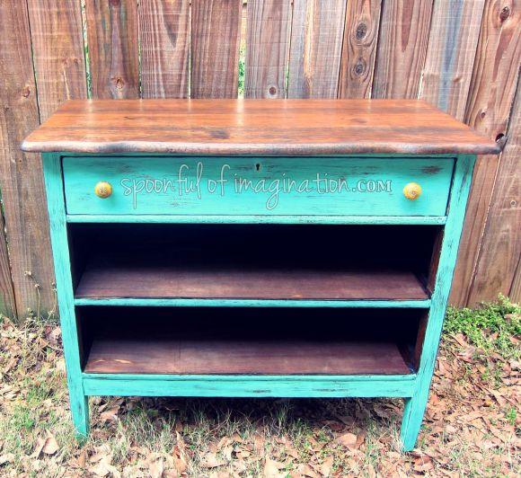 old dresser after