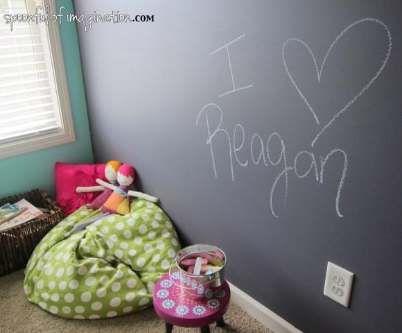 Great Slate Wall in kids room