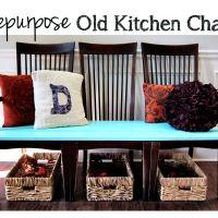 Repurpose Old Kitchen Chairs