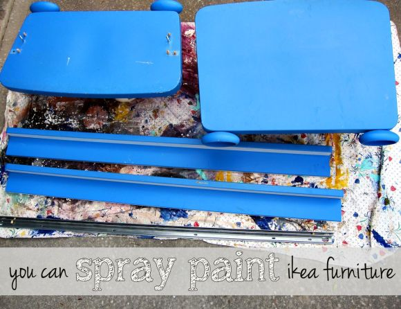 spraypaint ikea furniture