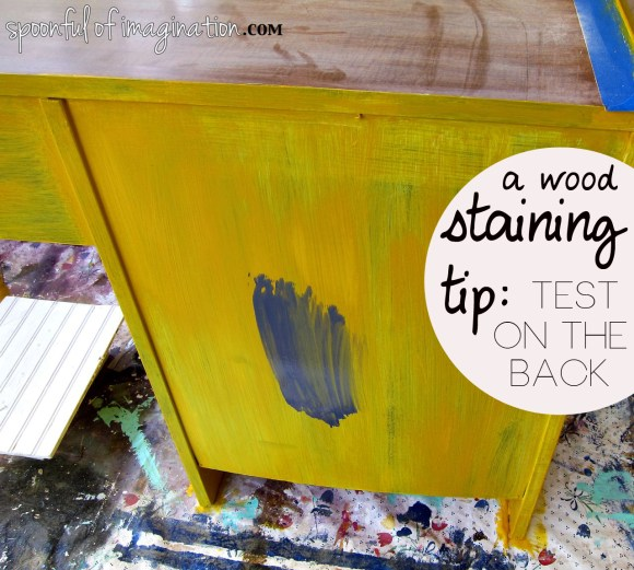testing stain color tip