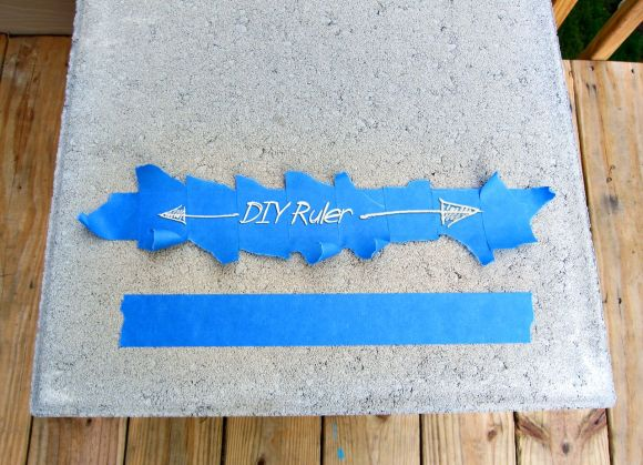 DIY Ruler with Painters tape