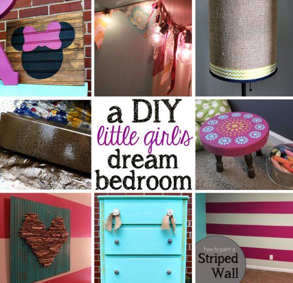 DIY little girl's bedroom