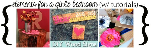 Elements for a girls bedroom